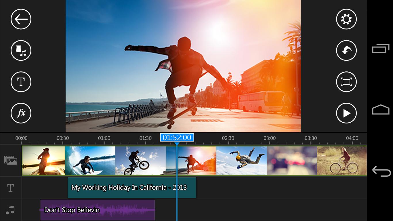 Power director app para editar videos