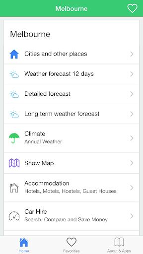 メルボルンの天気予報 今日&長期のための条件