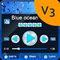 Blue ocean PlayerPro Skin icon