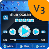 Blue ocean PlayerPro Skin