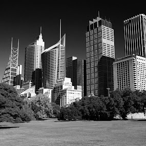 Sydney by Kirsten Evans - Black & White Buildings & Architecture