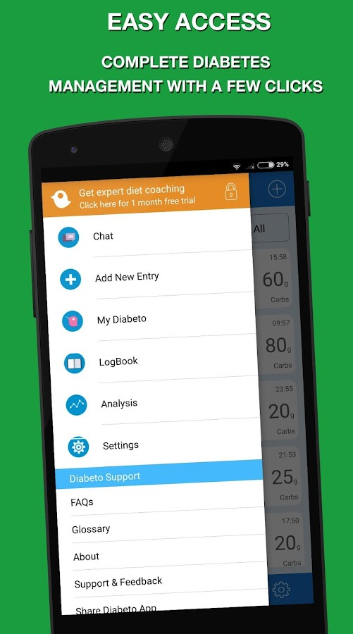 Diabeto Diabetes Logbook- screenshot