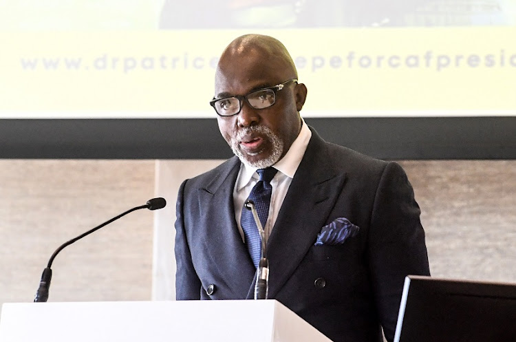 Amaju Pinnick President of Nigerian FA during the Dr. Patrice Motsepe CAF Manifesto launch at Sandton Convention Centre on February 25, 2021 in Johannesburg, South Africa.