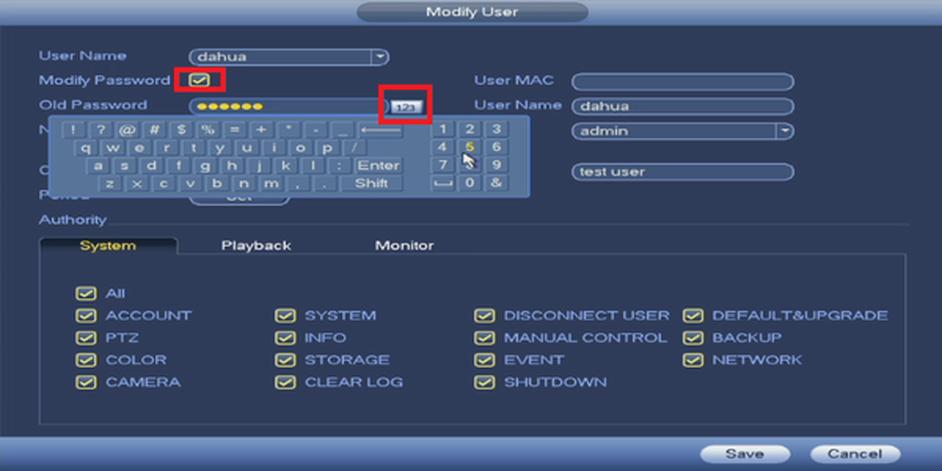 hướng dẫn cách đổi mật khẩu đầu ghi dahua