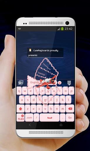 ピンクの煙 GO Keyboard