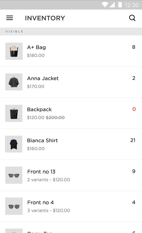 Squarespace Commerce- screenshot