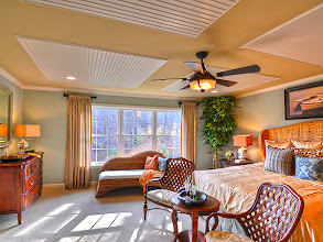 Photo: The master bedroom in the PRESTON model home at Winding Brook Estates