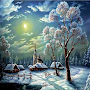 Snow Night Live Wallpapers APK icon