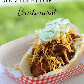 BBQ Pulled Pork Bratwurst