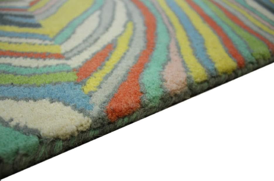 100% wełnany nowoczesny dywan z Indii ręcznie taftowany desen 160x230cm kolorowy