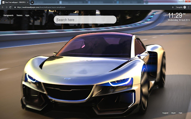 Super Cars New Tab & wallpapers