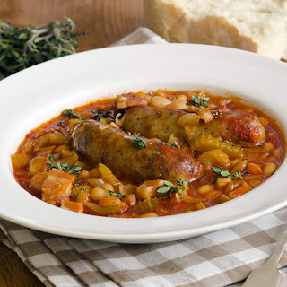 Sausage And Baked Bean Casserole.