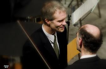 Photo: Konzertmeister und Dirigent nach dem Konzert in St. Nikolai Kirche Rostock