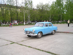 Photo: after 50 years, the car starts it's very long journey to St. Petersburg and then, 5 years later, to America