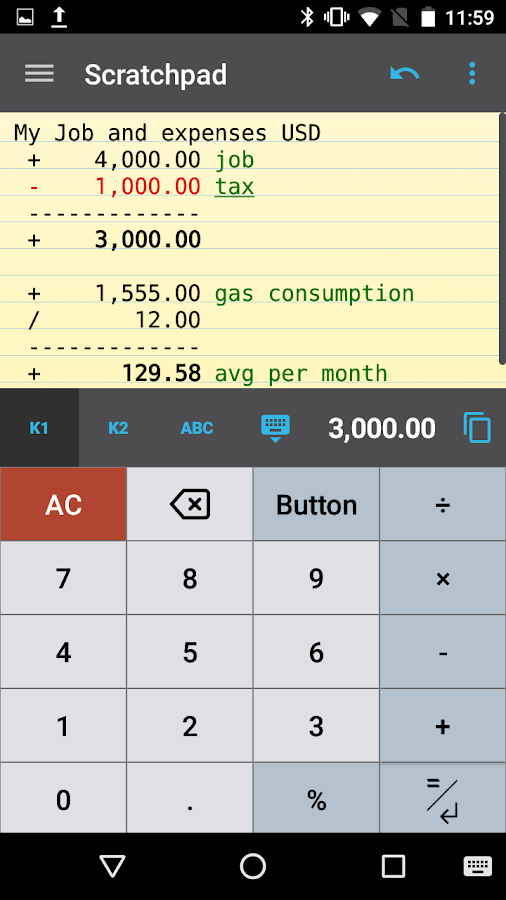 CalcTape Free Tape Calculator- screenshot