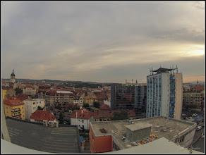 Photo: Piata Mihai Viteazul - Multiplex Leul - la etajul 7 a blocului cu Restaurant View Cluj vedere panorama - 2012.09.13