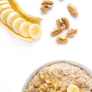 Slow Cooker Banana Nut Oatmeal.