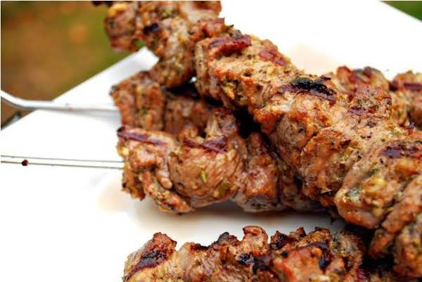 Moroccan Lamb Kebabs With Tomato-mint Relish
