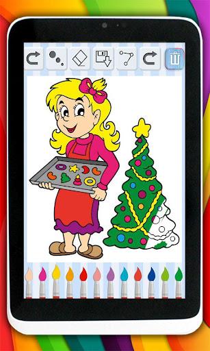 子供たちは クリスマスカードを描きます