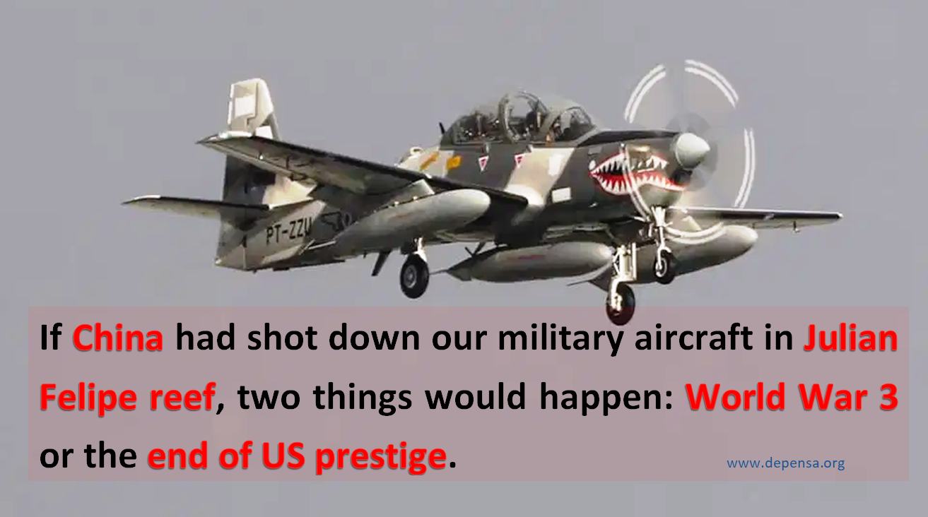 If China Shootdown the Airforce at Julian Felipe Reef, World War 3 will come or USA will lost its prestige