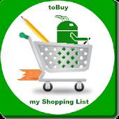 toBuy : my Shopping List