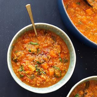 Lentil, Kale and Quinoa Stew.
