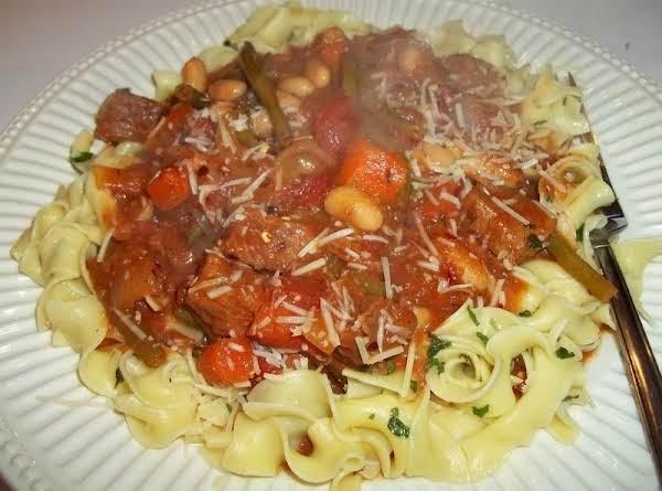 Italian Beef Over Pasta