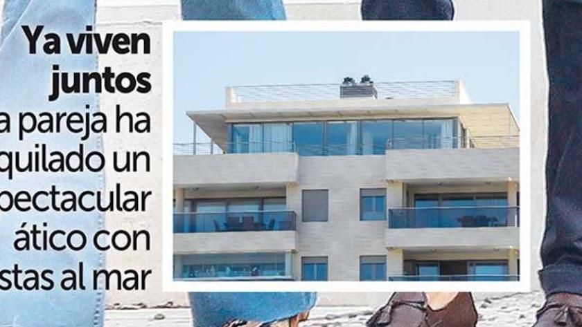 Recorte de la portada de Semana donde se ve la nueva vivienda de la pareja.