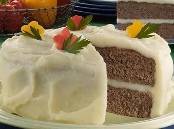 April Fools Meatloaf Cake