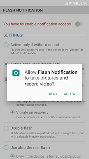 FrontFlash Notification Screenshot