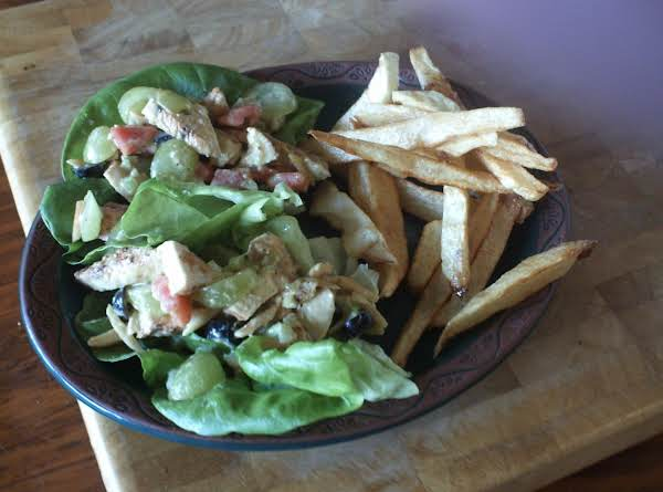 Grilled Chicken Salad  With Curry Mayo Dressing