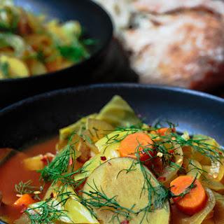 Slow Cooker Mediterranean Vegan Cabbage Soup.