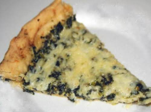 "Spinach Alfredo Pizza Recipe ""Made it last night, I added grilled chicken and..."
