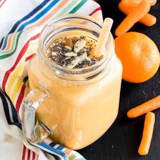 Carrot Orange Spring Smoothie.