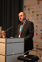 "Photo: ""Communicating Science & Innovations"" Panel - 2012: Hans Kunz presenting"