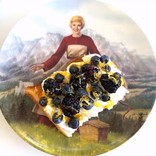 Breakfast Toast with Ricotta, Berries, Lemon and Honey.