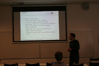 """Photo: Roland Schäfer, """"Processing and querying large web corpora with the COW14 architecture"""""""