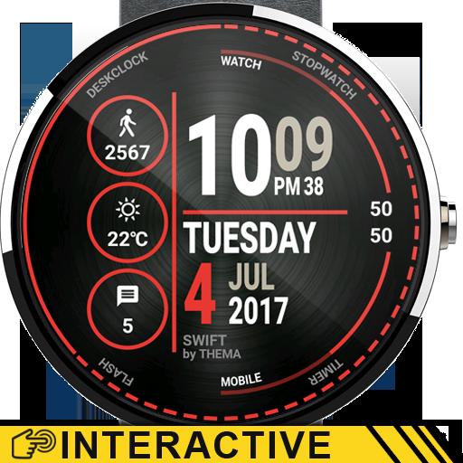 Swift Watch Face & Clock Widget Icon