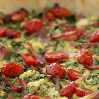 Spinach Ricotta and Tomato Pie.