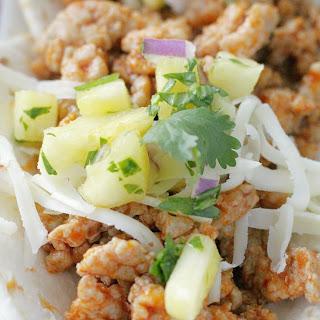 Ground Pork Tacos - Al Pastor Style.
