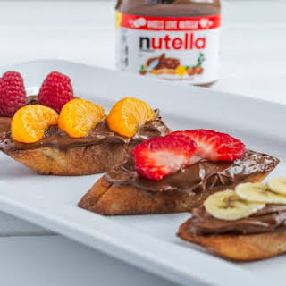 Breakfast Bruschetta with Nutella® Hazelnut Spread.