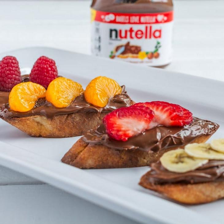 Breakfast Bruschetta with Nutella® Hazelnut Spread