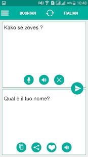 Bosnian Italian Translator - náhled