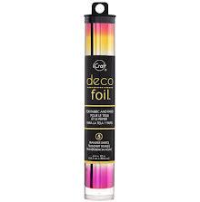 Thermoweb Deco Foil 6X12 5/Pkg - Summer Rainbow