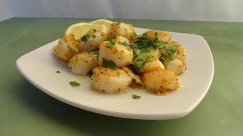 "Click Here for Recipe: Seared Sea Scallops ""The herbs and seasoning in..."