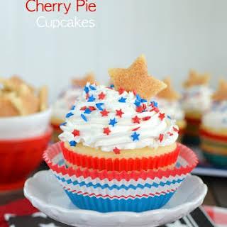 Vanilla Cherry Pie Cupcakes.