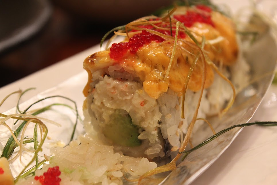 Inside the Scallop Island Roll at Ichiban Fish House