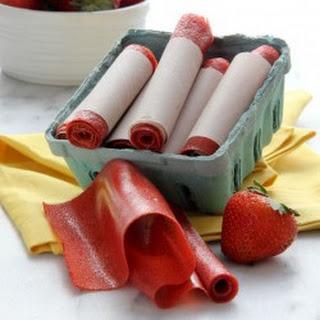 Strawberry Fruit Leather.
