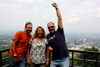 Photo: Day 336 -  Rog, Me & Mike On the Way up Doi Suthep