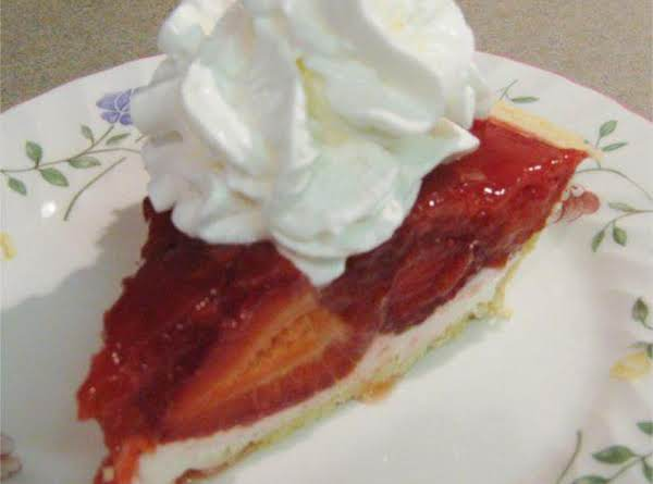 Strawberry Cream Cheese Pie With Whipped Cream. A Slice Of Heaven!